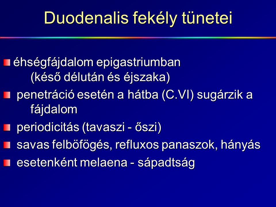 Duodenalis fekély tünetei