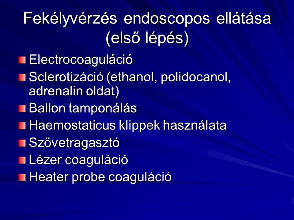 Fekélyvérzés endoscopos ellátása (első lépés)