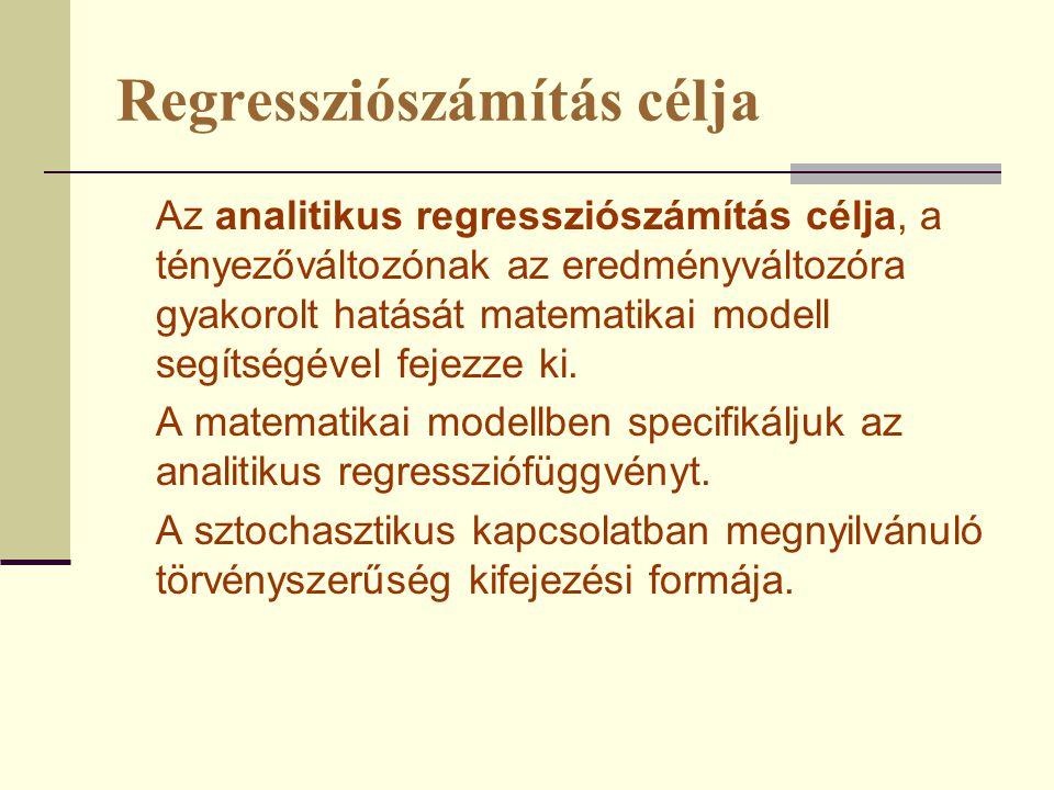 Regressziószámítás célja