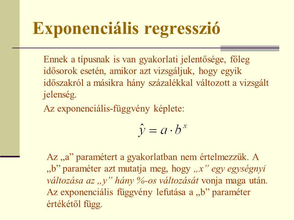 Exponenciális regresszió