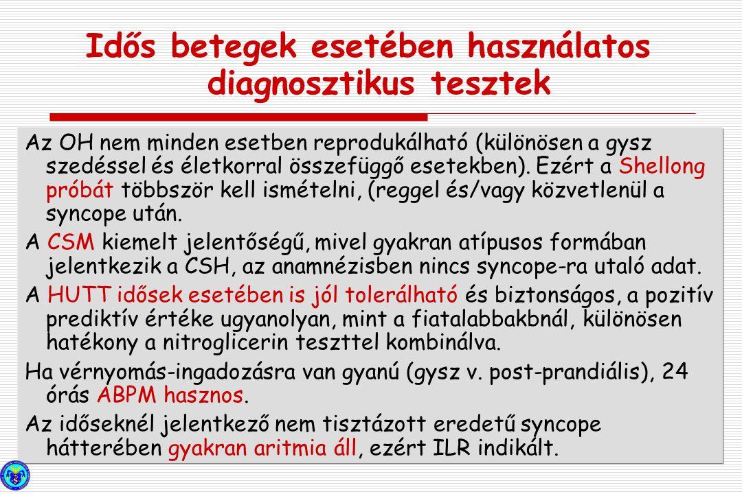 Idős betegek esetében használatos diagnosztikus tesztek
