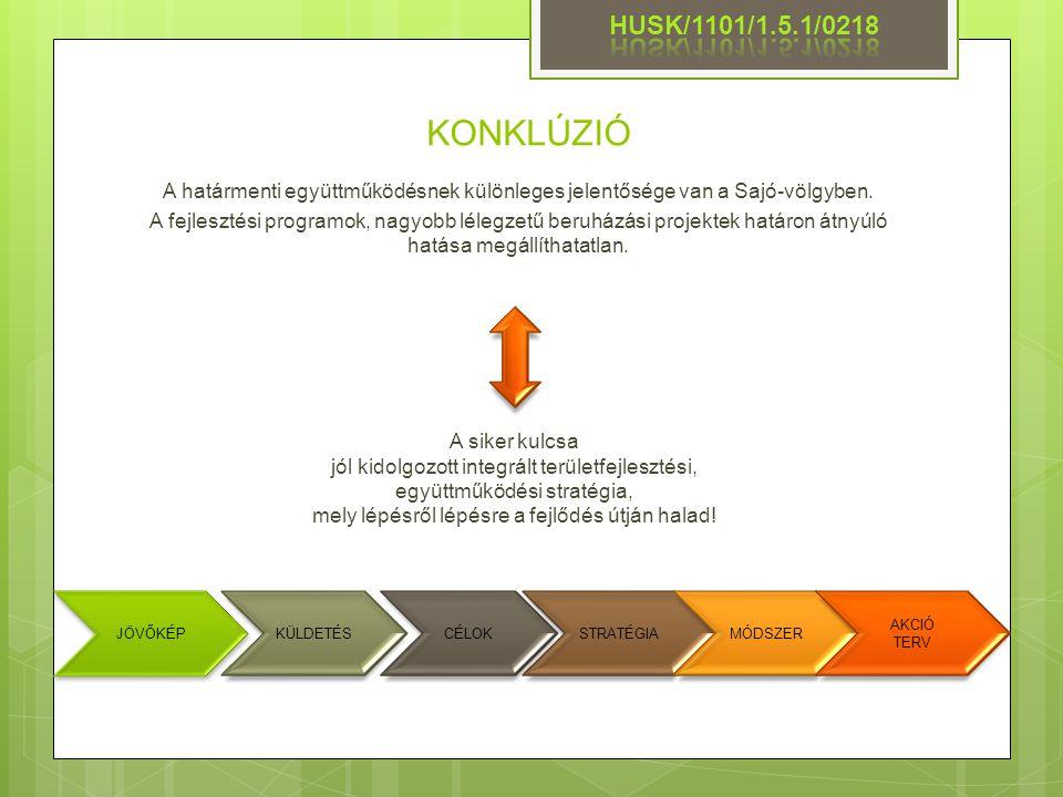 HUSK/1101/1.5.1/0218 KONKLÚZIÓ. A határmenti együttműködésnek különleges jelentősége van a Sajó-völgyben.