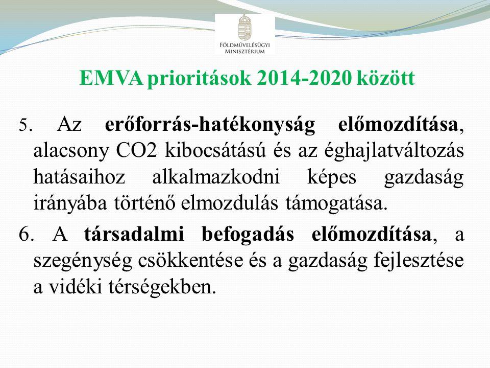 EMVA prioritások 2014-2020 között