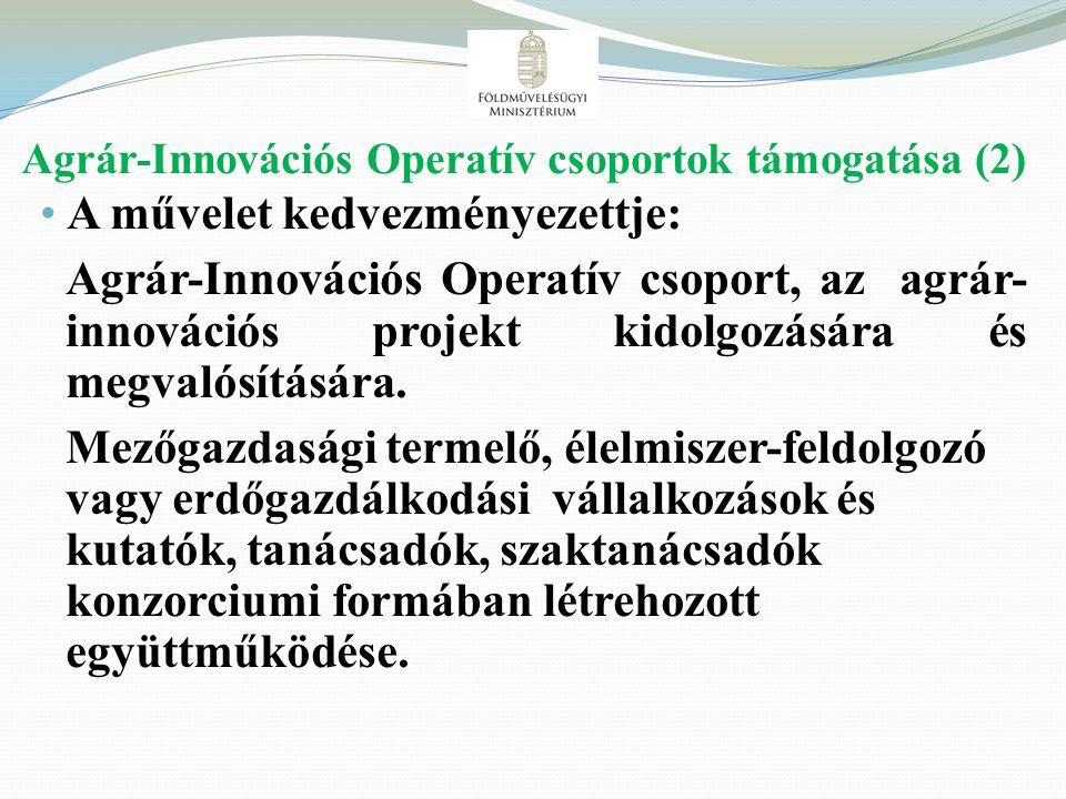 Agrár-Innovációs Operatív csoportok támogatása (2)