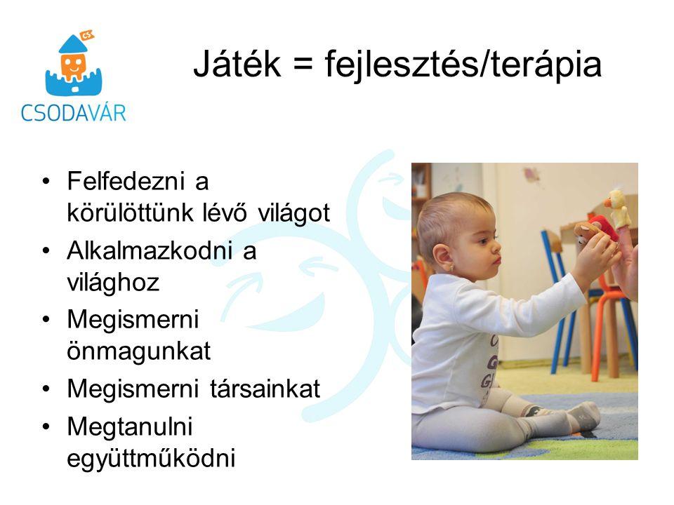 Játék = fejlesztés/terápia