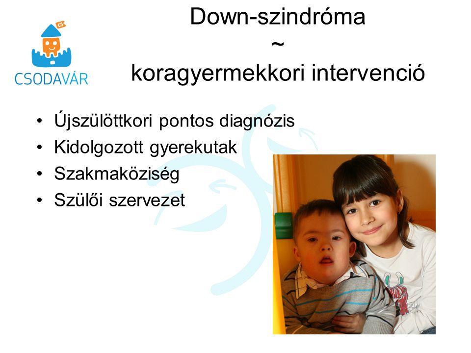 Down-szindróma ~ koragyermekkori intervenció