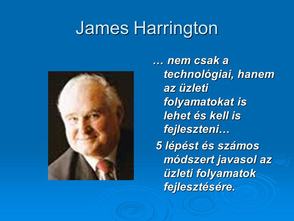 James Harrington … nem csak a technológiai, hanem az üzleti folyamatokat is lehet és kell is fejleszteni…