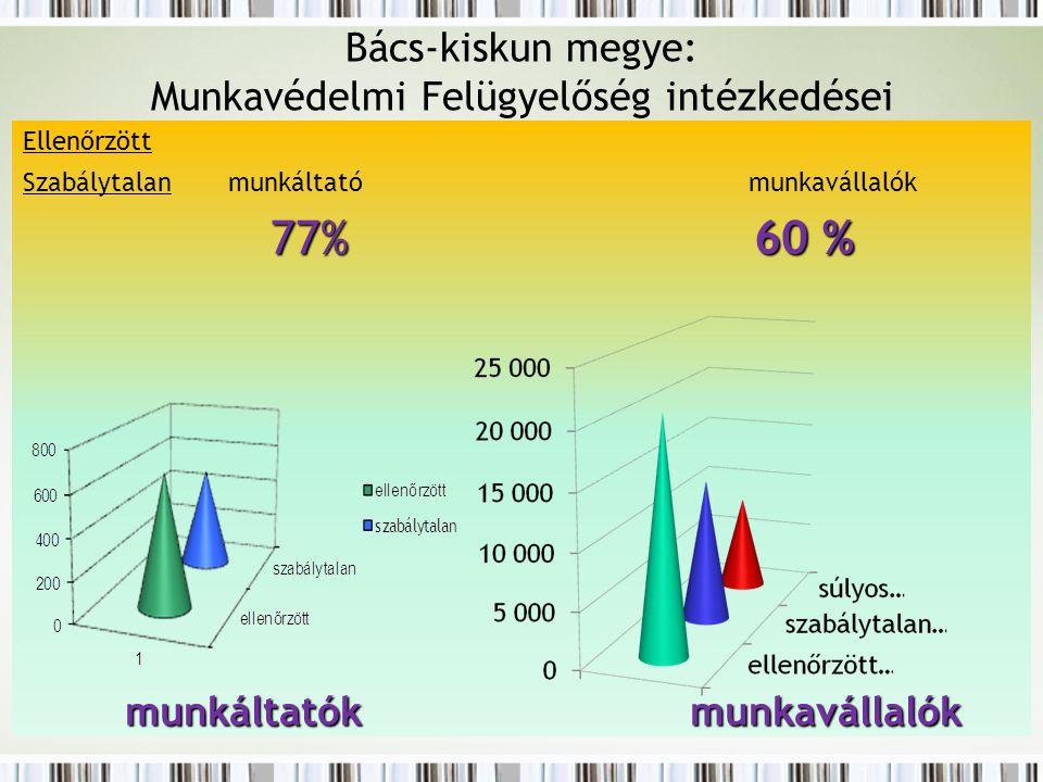 Bács-kiskun megye: Munkavédelmi Felügyelőség intézkedései