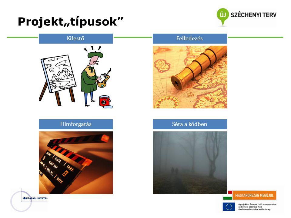 """Projekt""""típusok Kifestő Felfedezés Filmforgatás Séta a ködben"""