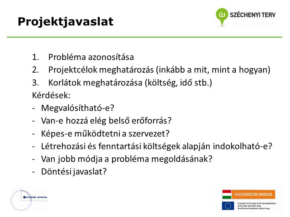 Projektjavaslat Probléma azonosítása