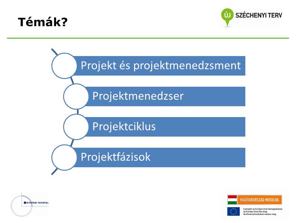 Projekt és projektmenedzsment