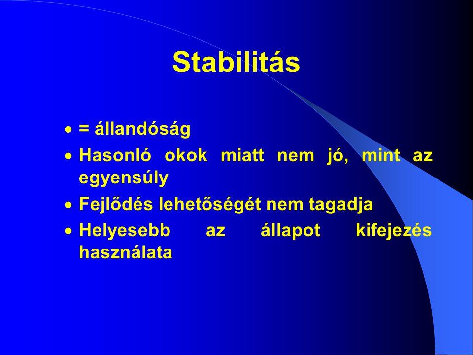 Stabilitás  = állandóság