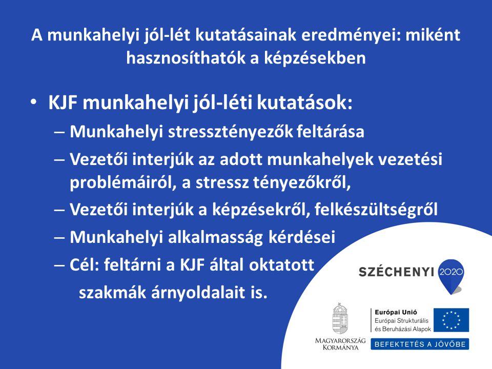 KJF munkahelyi jól-léti kutatások: