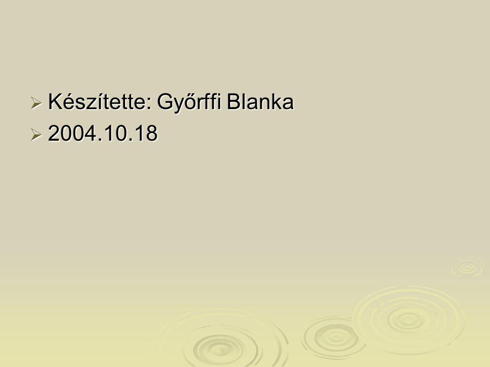 Készítette: Győrffi Blanka