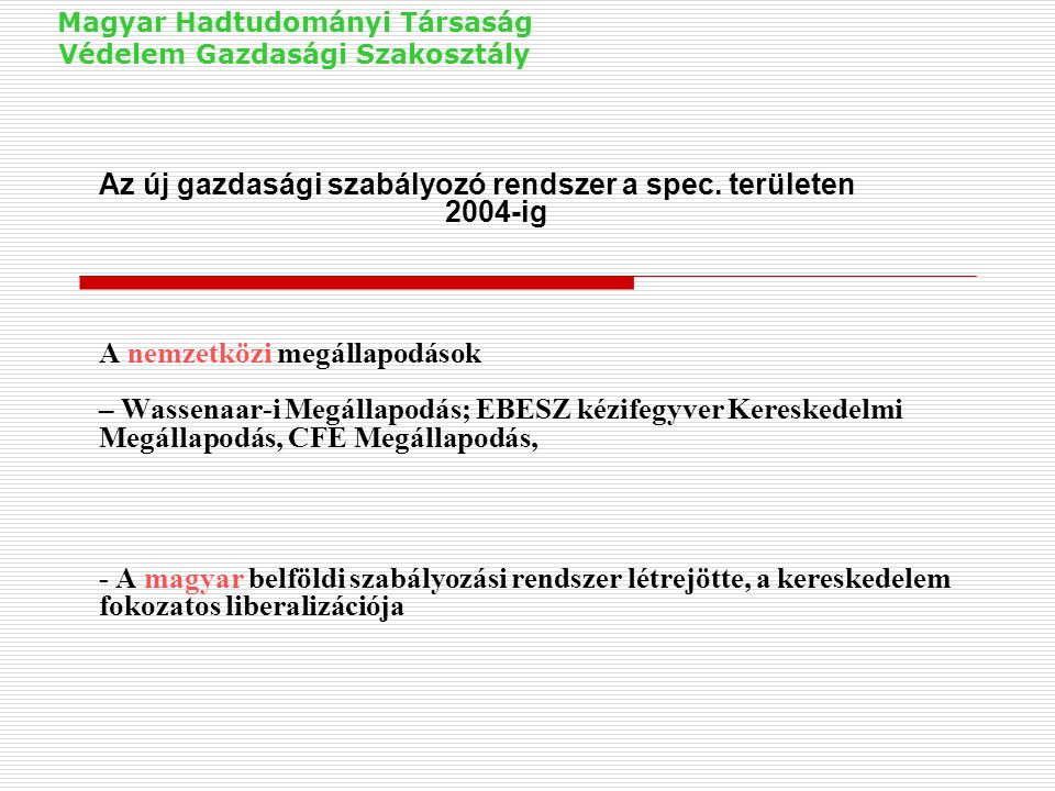 Magyar Hadtudományi Társaság Védelem Gazdasági Szakosztály