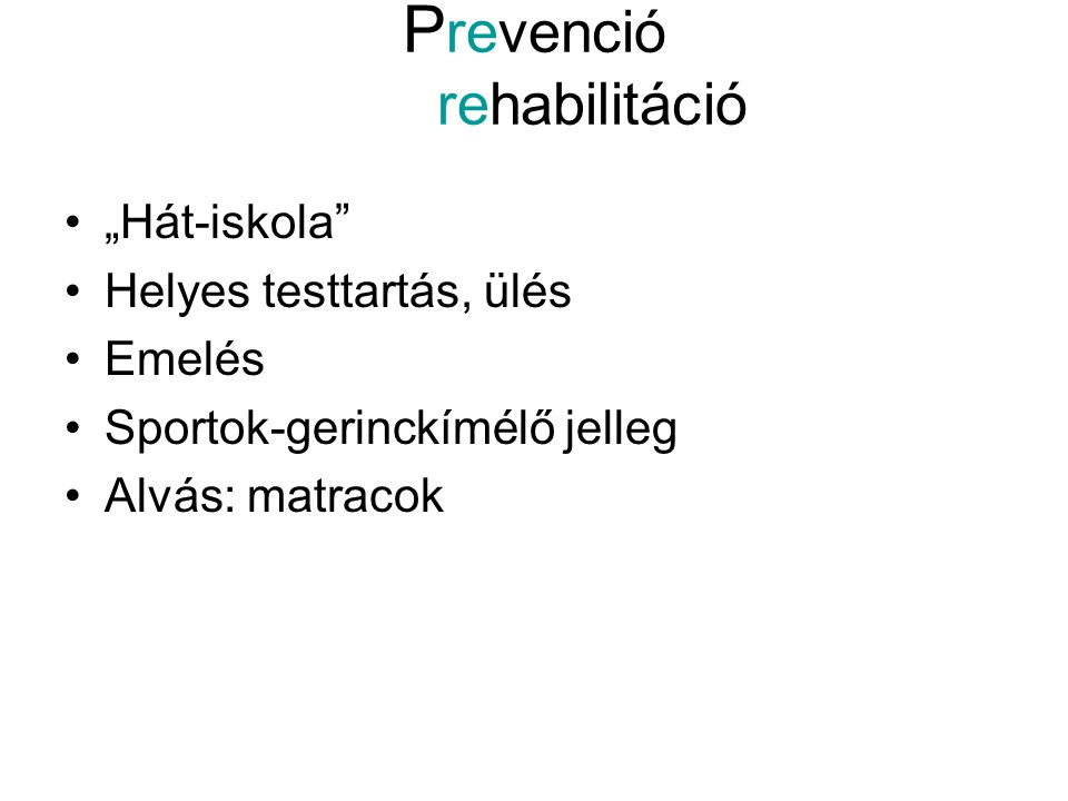 Prevenció rehabilitáció