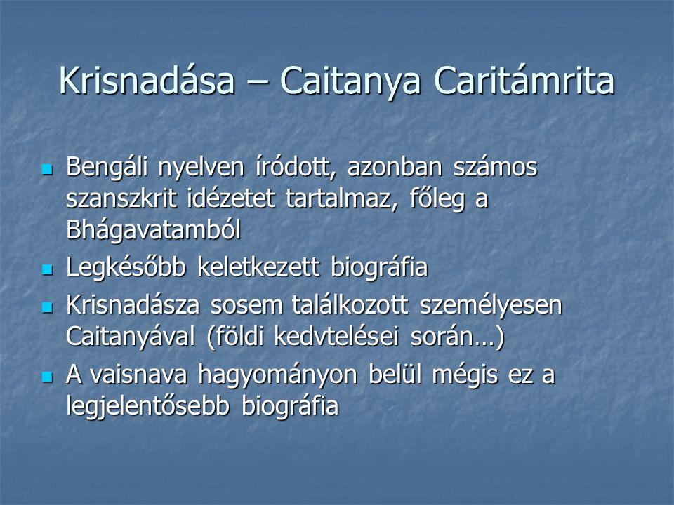 Krisnadása – Caitanya Caritámrita