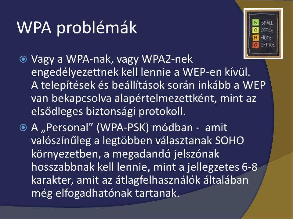 WPA problémák