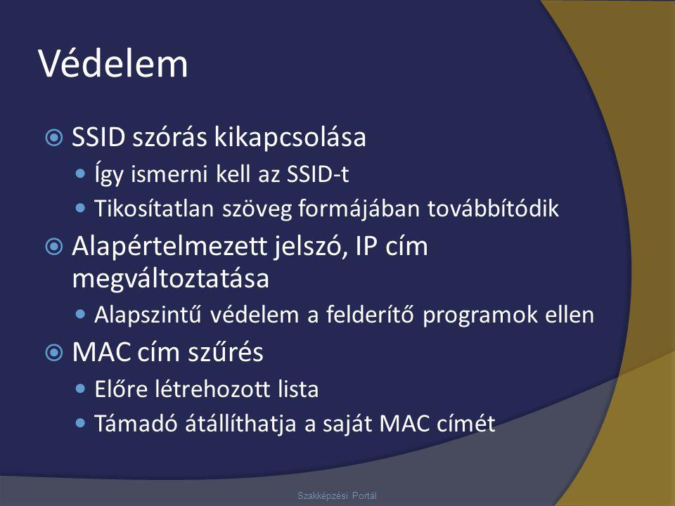 Védelem SSID szórás kikapcsolása