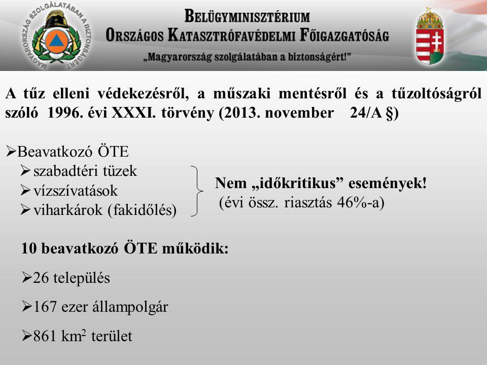A tűz elleni védekezésről, a műszaki mentésről és a tűzoltóságról szóló 1996. évi XXXI. törvény (2013. november 24/A §)