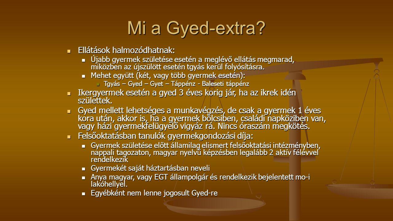 Mi a Gyed-extra Ellátások halmozódhatnak: