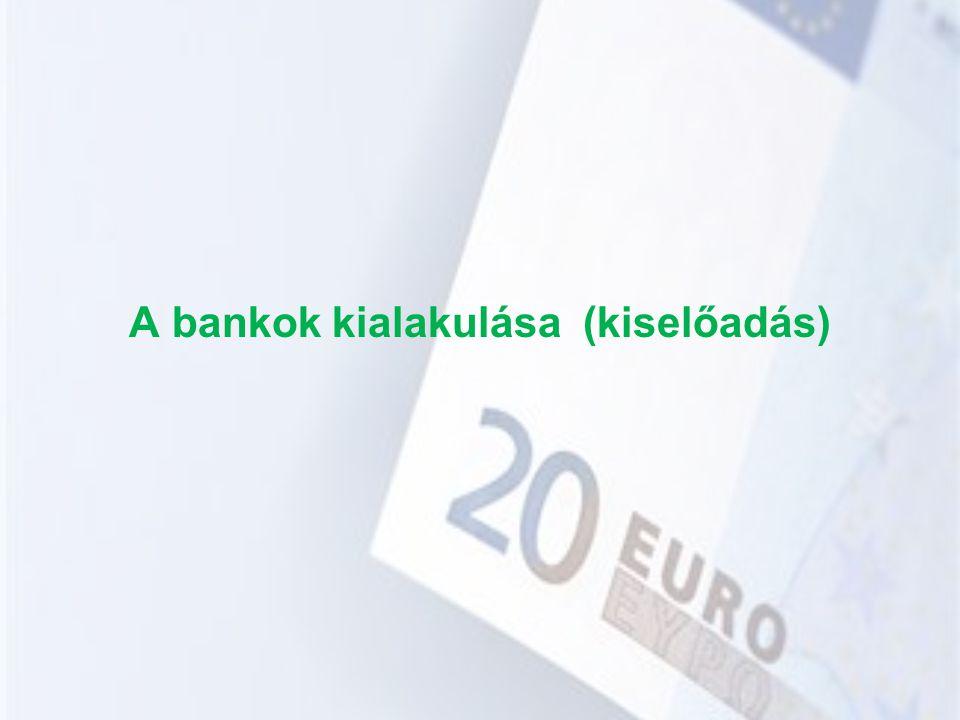 A bankok kialakulása (kiselőadás)
