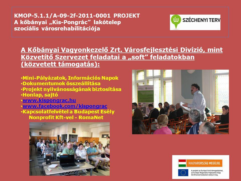 """KMOP-5.1.1/A-09-2f-2011-0001 PROJEKT A kőbányai """"Kis-Pongrác lakótelep szociális városrehabilitációja"""