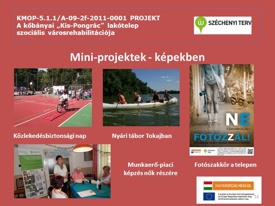 Mini-projektek - képekben Munkaerő-piaci képzés nők részére