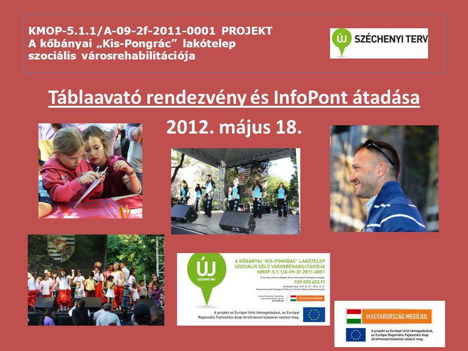 Táblaavató rendezvény és InfoPont átadása 2012. május 18.
