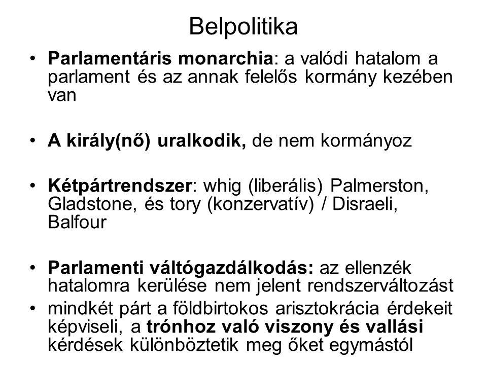 Belpolitika Parlamentáris monarchia: a valódi hatalom a parlament és az annak felelős kormány kezében van.