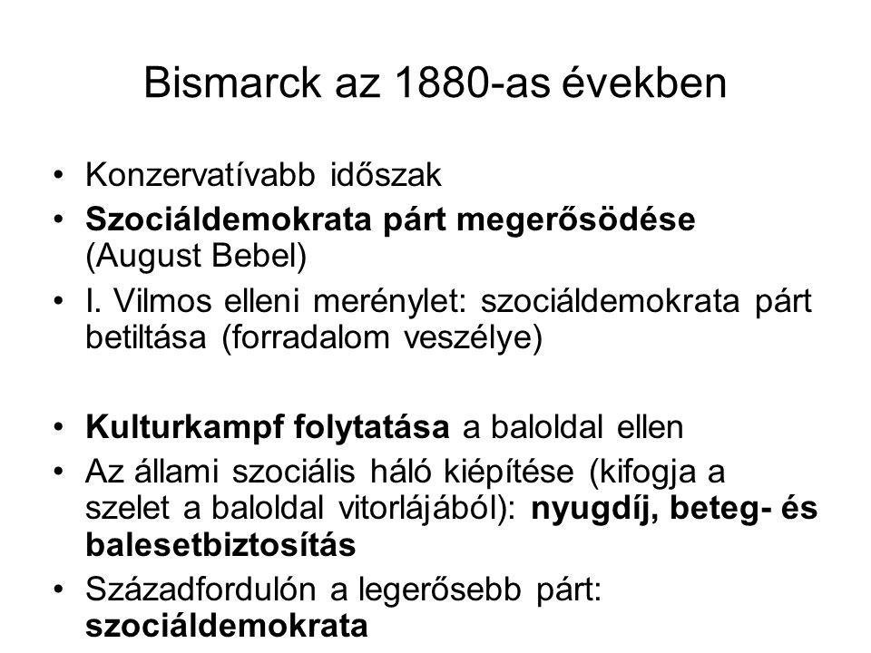 Bismarck az 1880-as években