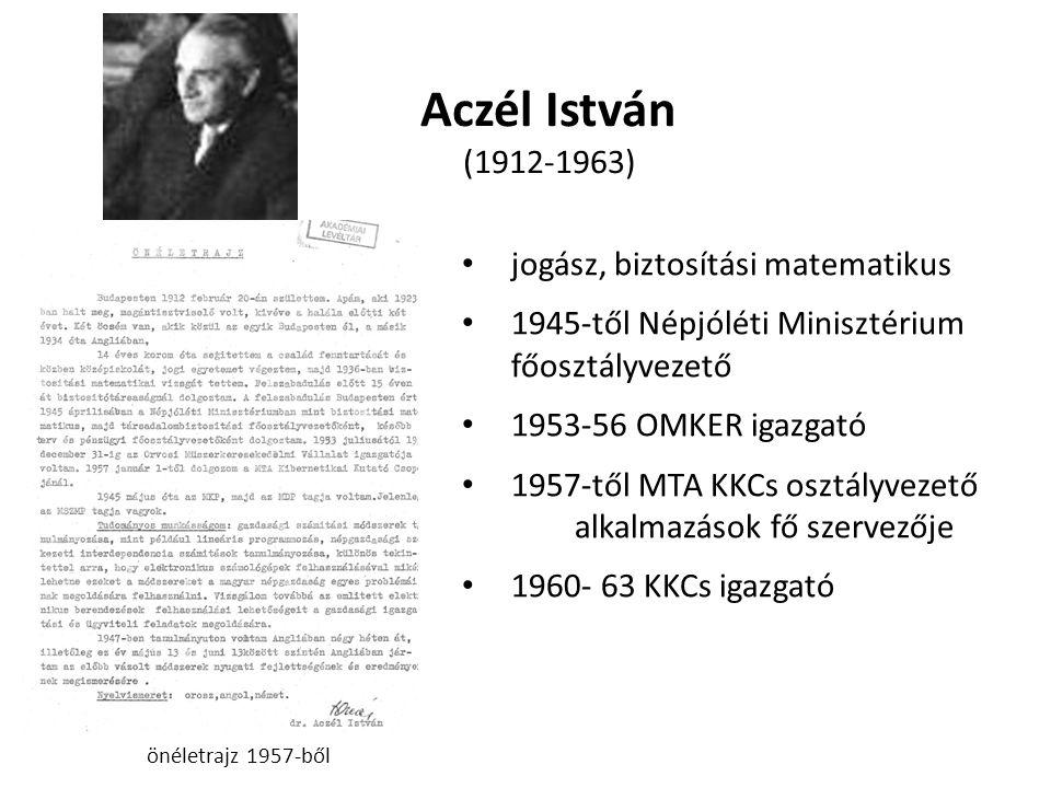 Aczél István (1912-1963) jogász, biztosítási matematikus