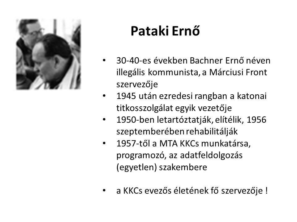 Pataki Ernő 30-40-es években Bachner Ernő néven illegális kommunista, a Márciusi Front szervezője.