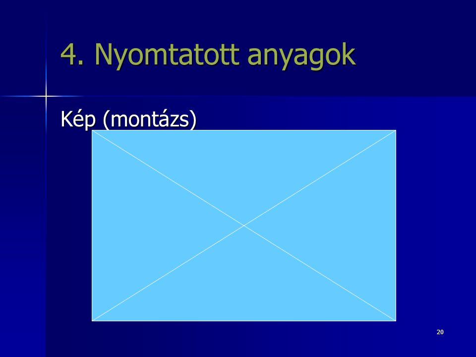 4. Nyomtatott anyagok Kép (montázs)
