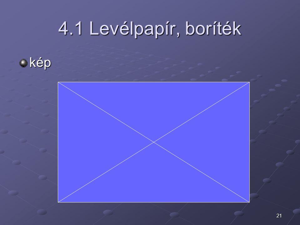 4.1 Levélpapír, boríték kép