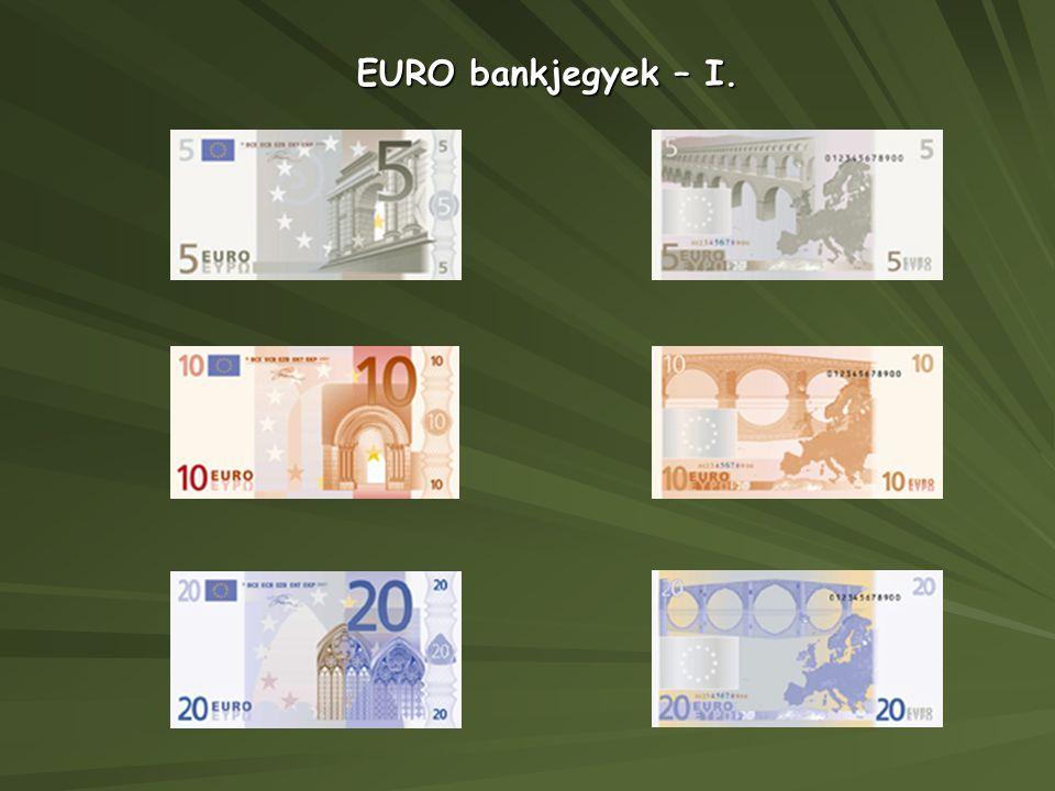 EURO bankjegyek – I.