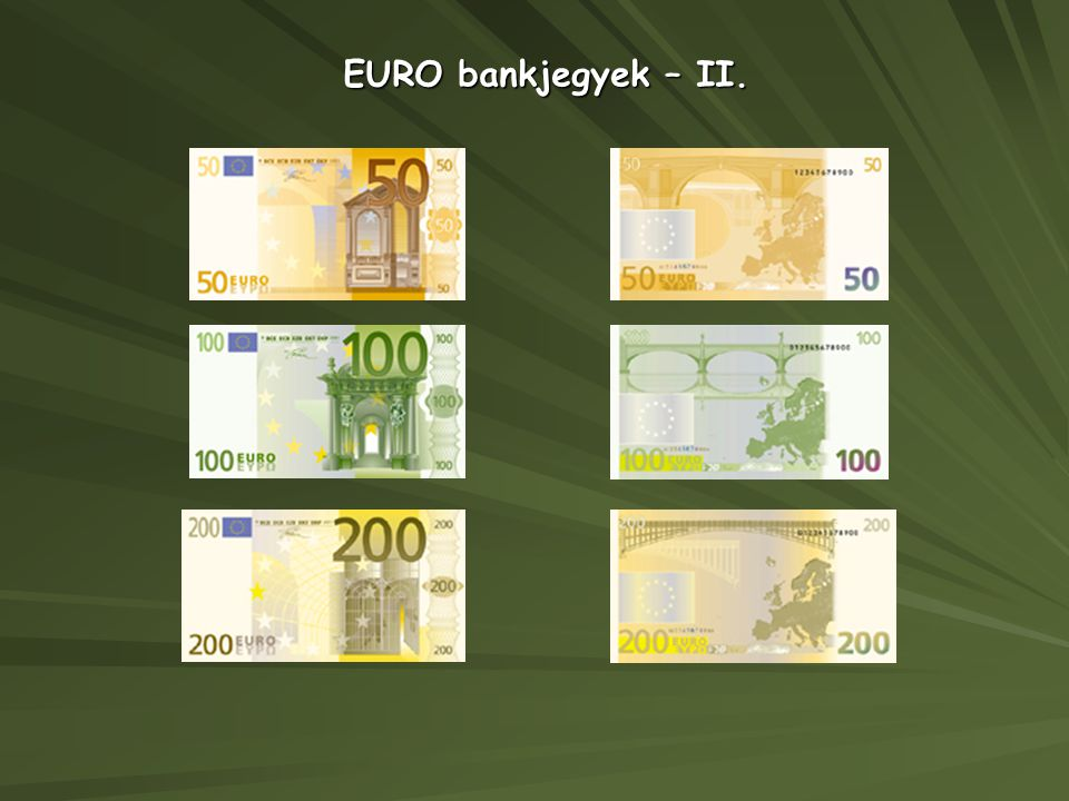 EURO bankjegyek – II.
