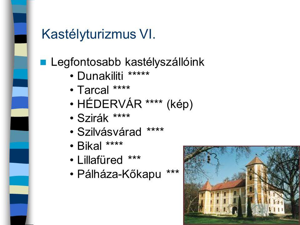 Kastélyturizmus VI. Legfontosabb kastélyszállóink Dunakiliti *****
