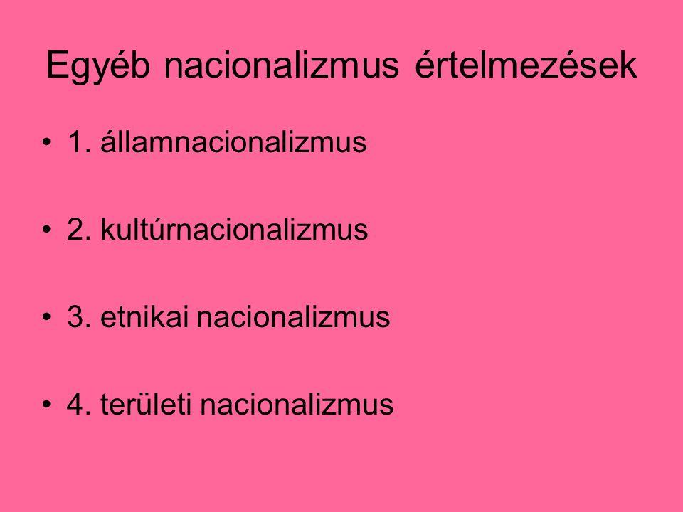 Egyéb nacionalizmus értelmezések