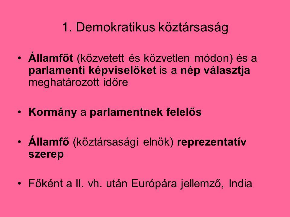 1. Demokratikus köztársaság