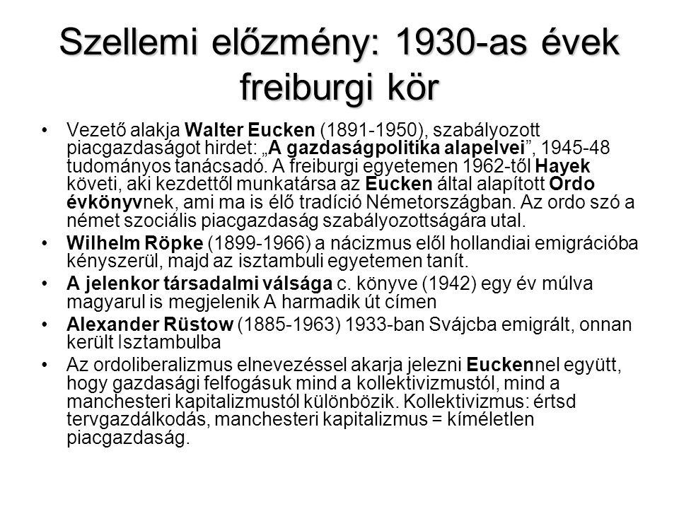 Szellemi előzmény: 1930-as évek freiburgi kör