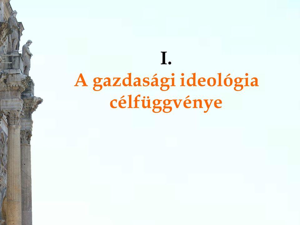 I. A gazdasági ideológia célfüggvénye