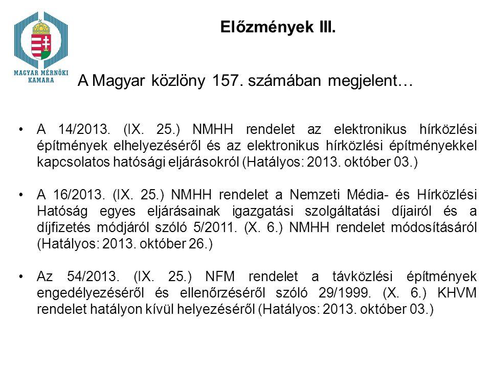 A Magyar közlöny 157. számában megjelent…
