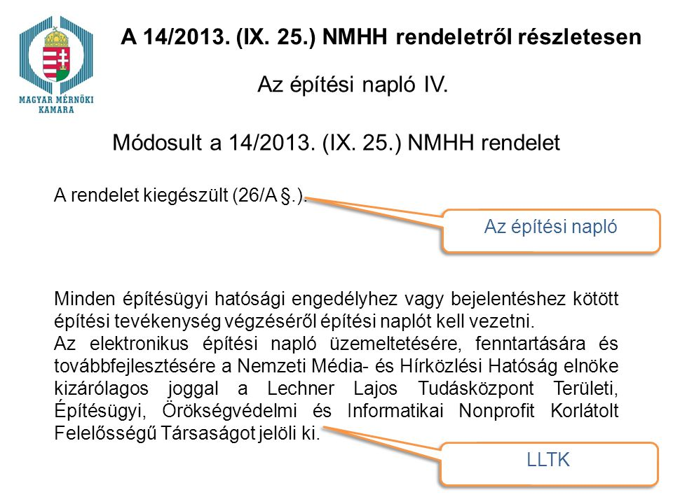 A 14/2013. (IX. 25.) NMHH rendeletről részletesen