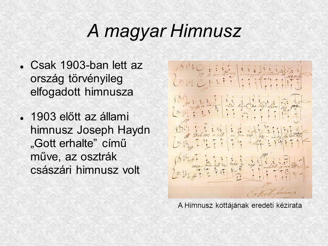 A Himnusz kottájának eredeti kézirata