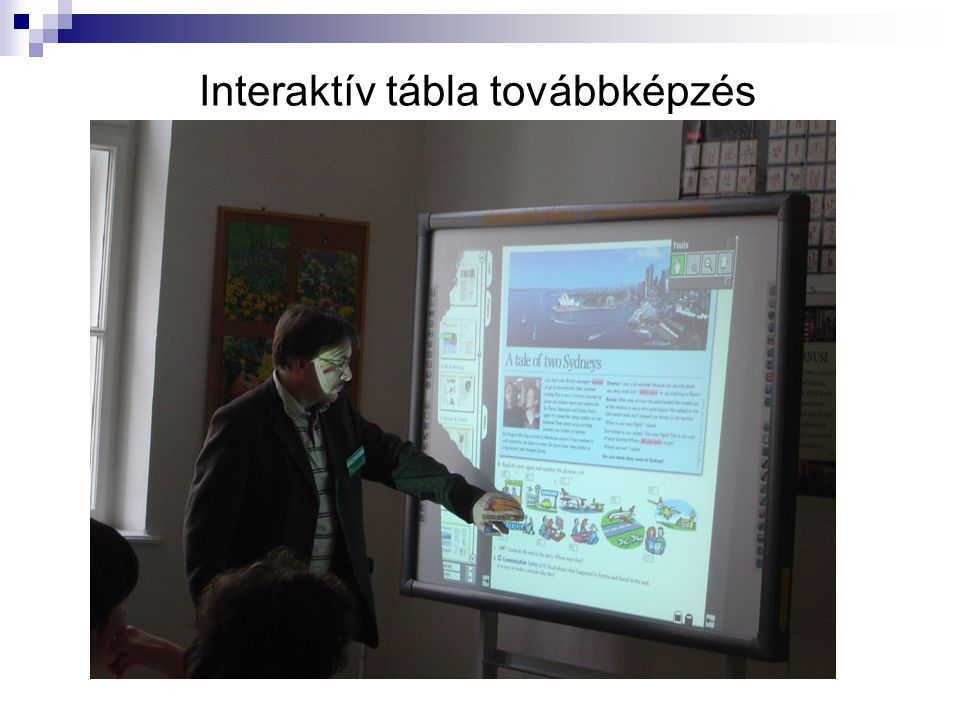 Interaktív tábla továbbképzés
