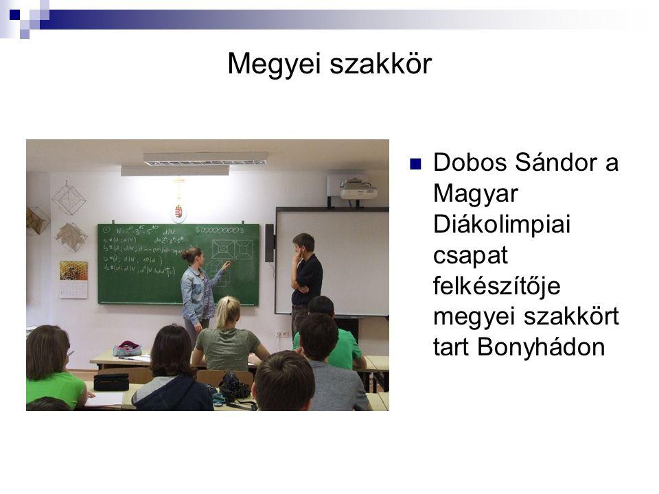 Megyei szakkör Dobos Sándor a Magyar Diákolimpiai csapat felkészítője megyei szakkört tart Bonyhádon.