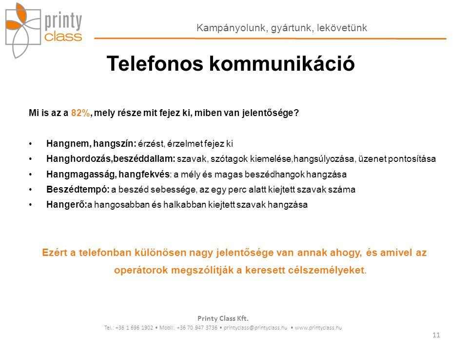 Telefonos kommunikáció
