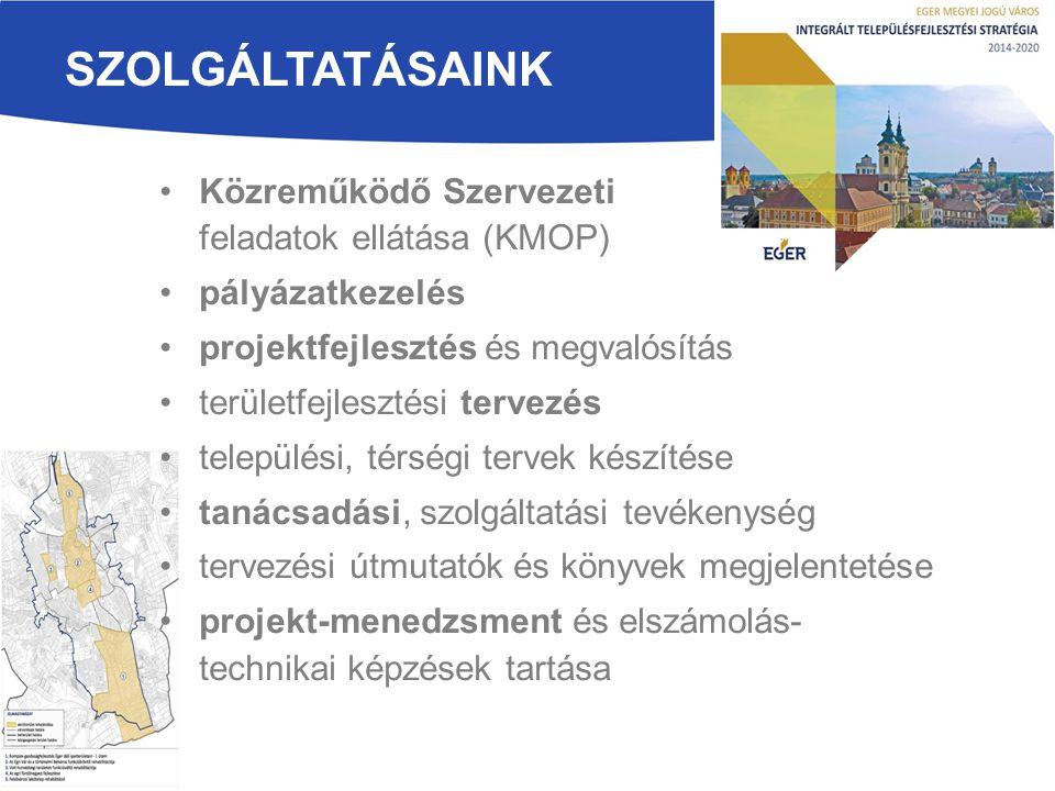 Szolgáltatásaink Közreműködő Szervezeti feladatok ellátása (KMOP)