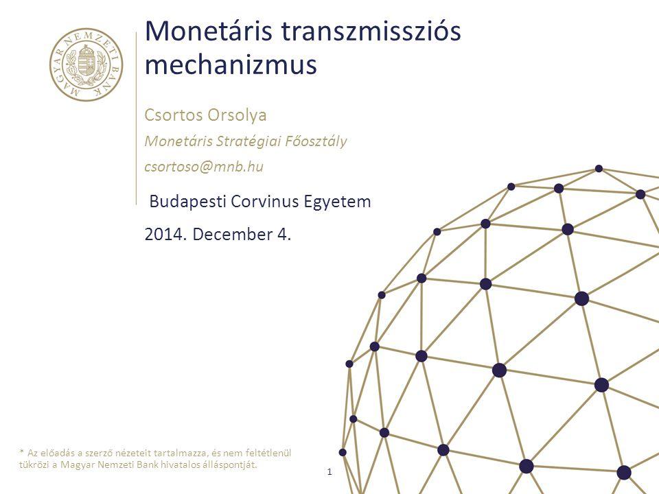 Monetáris transzmissziós mechanizmus